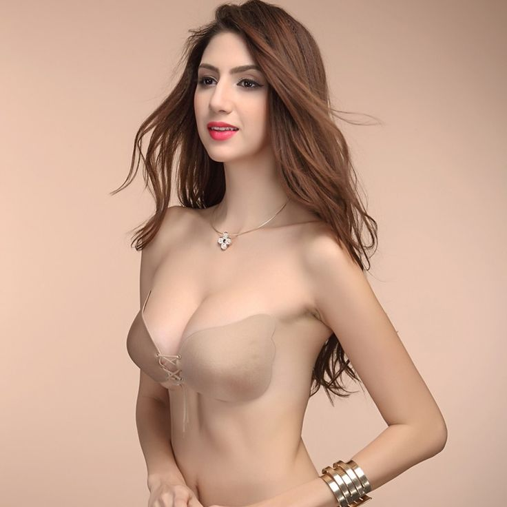 Sexy woman Self-Adhesive bra Bust Front Closure Silicone Seamless Strapless Bra Invisible Push up bra