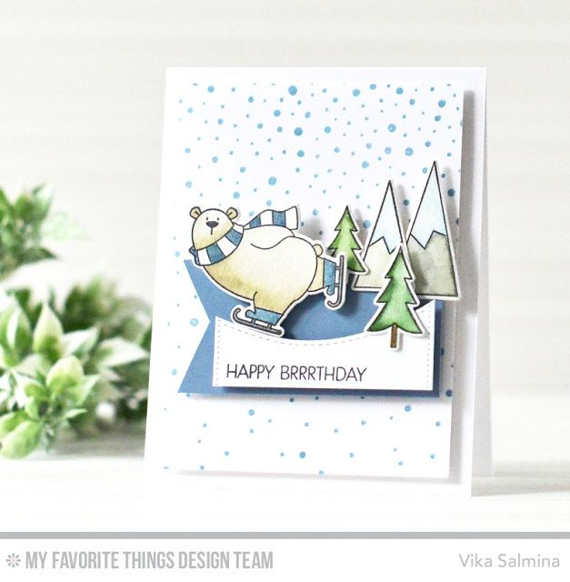 204 best cards mft polar bear pals images on pinterest christmas simple smiling cards wsc 313 happy brrrthday bookmarktalkfo Images