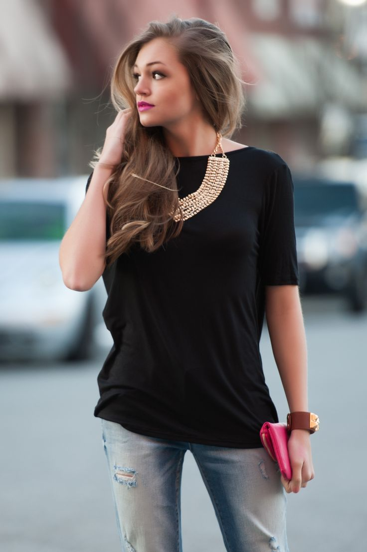 black T  #swoonboutique