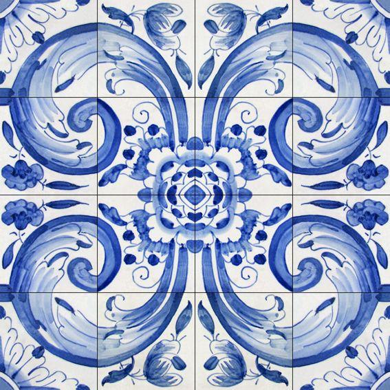 Padrão / Pattern P-17-01066  #Azulejo #AzulejoDoMês #AzulejoOfTheMonth #Flores #Flowers #Padrão #Pattern
