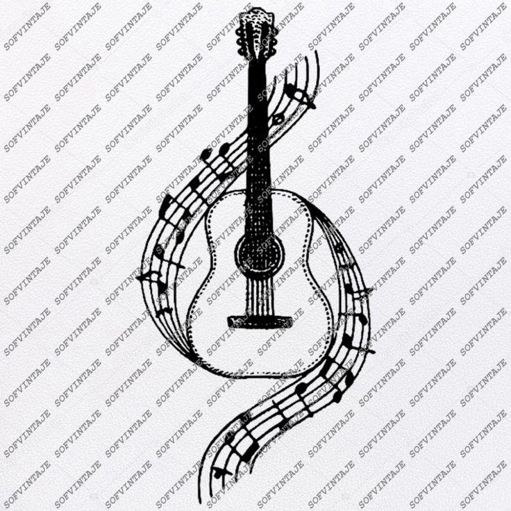 Guitar music Svg FileGuitar music Svg DesignClipart