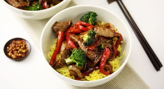 Beef & Blackbean with Noodles - weightloss.com.au