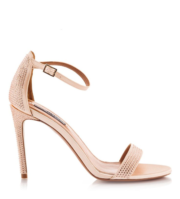 Fratelli Karida's sandals have been impeccably crafted in Italy from silk-satin. This timeless nude pair, is set on an elegant high heel that is covered with micro-studs. They're finished with a slim ankle buckle fastening strap, ensuring a secure fit. Wear them to events with flawless dresses.