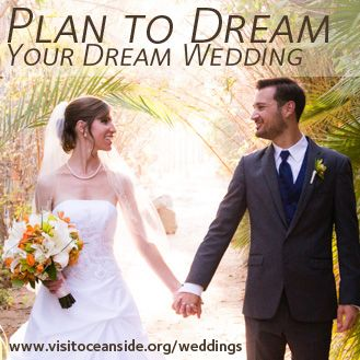 On the Visit Oceanside Blog: How to Plan your Dream Wedding. - Photo credit to Jesslan Lee Photography