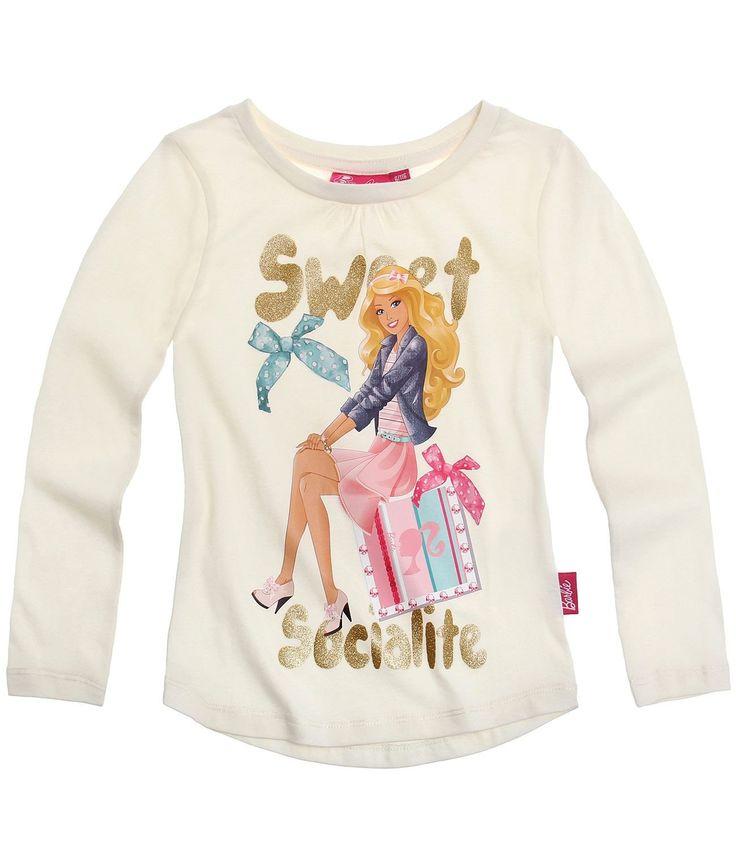 Barbie Long Sleeve T-Shirt cream: Amazon.co.uk: Clothing