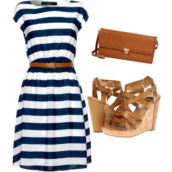 cute summer navy and white striped dress