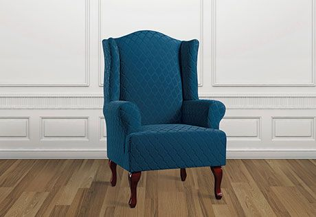 Photo of Stretch Grand Marrakesh Wing Chair Slipcovers