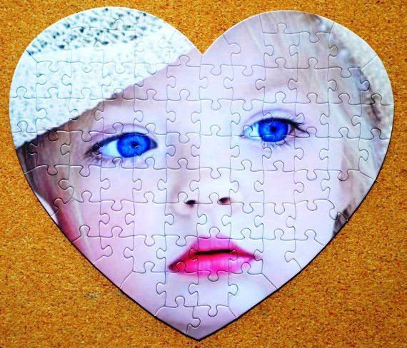 Heart Shaped Custom Puzzle for Date Nite fun.