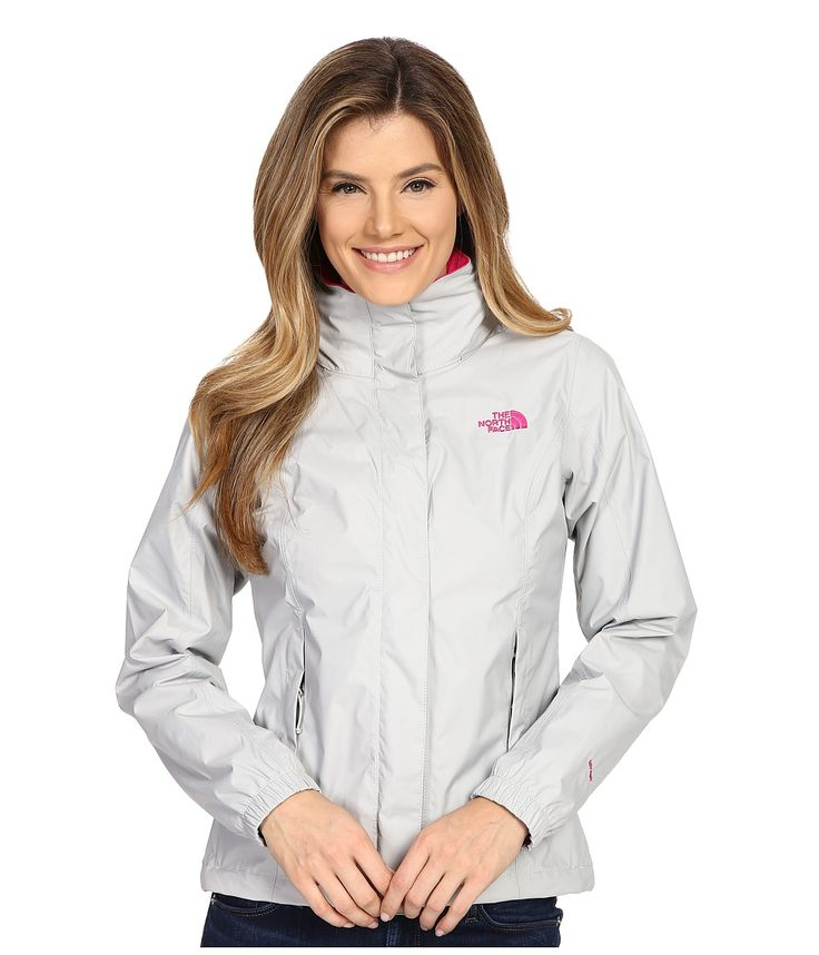 THE NORTH FACE THE NORTH FACE - RESOLVE JACKET (HIGH RISE GREY/GLO PINK) WOMEN'S COAT. #thenorthface #cloth #
