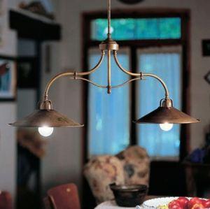 two-light-iron-brass-pendant-light-made-in-italy-sku-ilf-i-p-017 $1769 shade diam 300, height adjust 500-1500mm E27 http://www.ilfanale.com/en/collezioni/il-poggio/20310.html