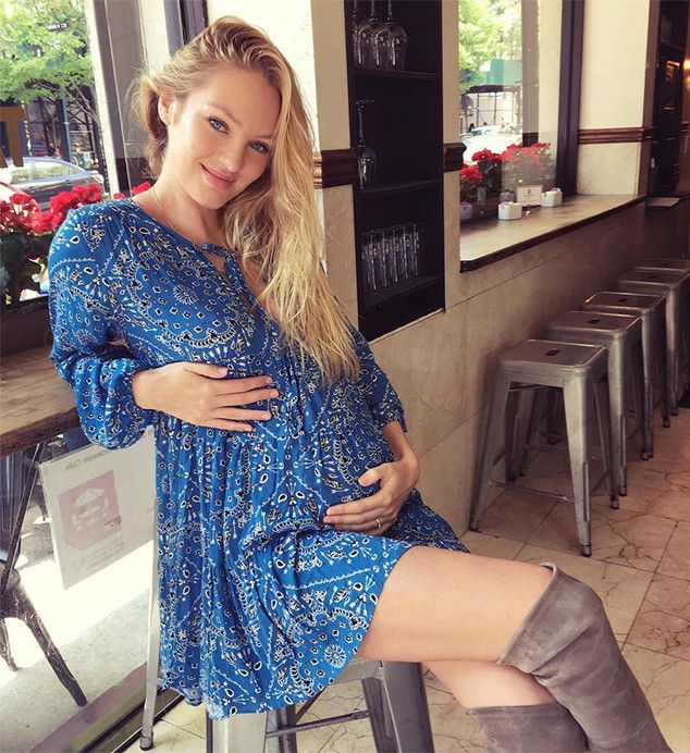 "Candice Swanepoel from Stars Celebrate Mother's Day 2016  The pregnant supermodel posted this pic on Instagram and gave a shout-out to fellow pregnant Victoria's Secret Angel Behati Prinsloo, writing, ""Happy Mother's Day to all the amazing mothers in my life and happy almost mama's day to us @behatiprinsloo. So much love already."""