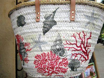 popurri regalos decoracin cestas capazos decoradas con decoupage palma de