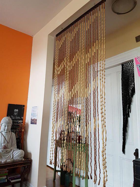Original 1970 beaded curtain boho curtain bohemian curtain
