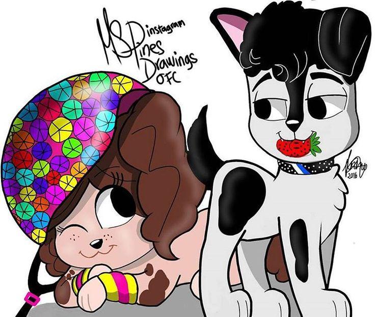 #Lutteo versão cachorrinhos  By: @mspines.drawings.ofc
