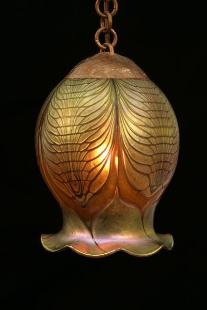 free-hanging Trilobite lamp, while lit up.  Good in Steampunk as well as Craftsman styles. Would look terrific with a strong spotlight LED bulb used as downlight in a room with aquariums, using themes on the sea, or even bronzy iridescent ideas like peacocks    Not Cheap!  source for buying it:  http://www.craftsmantouch.com/catalog/item/4859225/5135189.htm