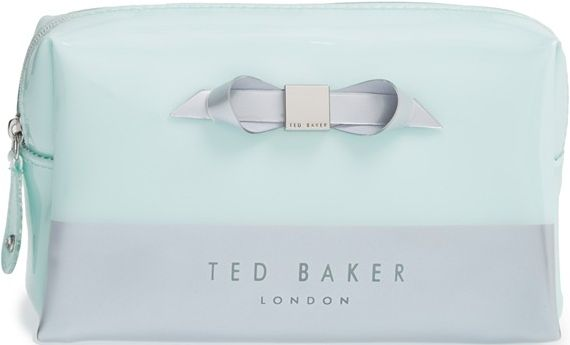 •Website: http://www.cuteandstylishbags.com/portfolio/ted-baker-london-light-green-nellyy-small-cosmetics-bag/ •Item: Ted Baker London Light Green 'Nellyy' Small Cosmetics Bag
