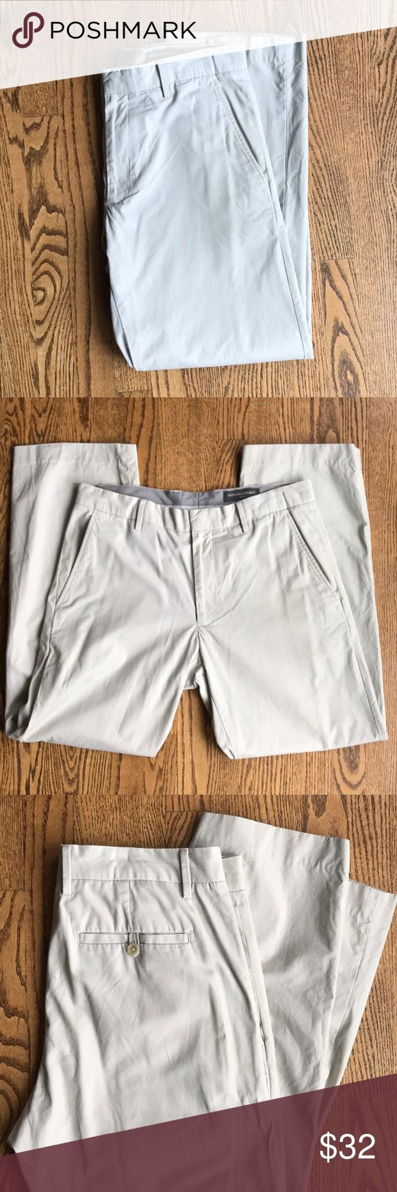Banana Republic Men's Tan Chinos 32x32 32L x 32W. Great condition.  Check out my other Men's listings to bundle and save. Banana Republic Pants Chinos & Khakis