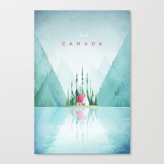 Buy Canada Canvas Print by wetcake. Worldwide shipping available at Society6.com. Just one of millions of high quality products available.