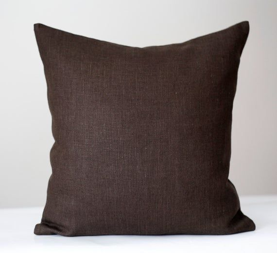 Coffee Brown Pillow Cover Linen Pillowcase For Decorative Pillow Inserts 0005 Brown Pillow Covers Brown Throw Pillows Brown Decorative Pillows