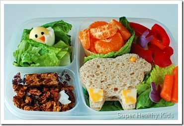 Easter Bento lunch for kids with lamb and chick