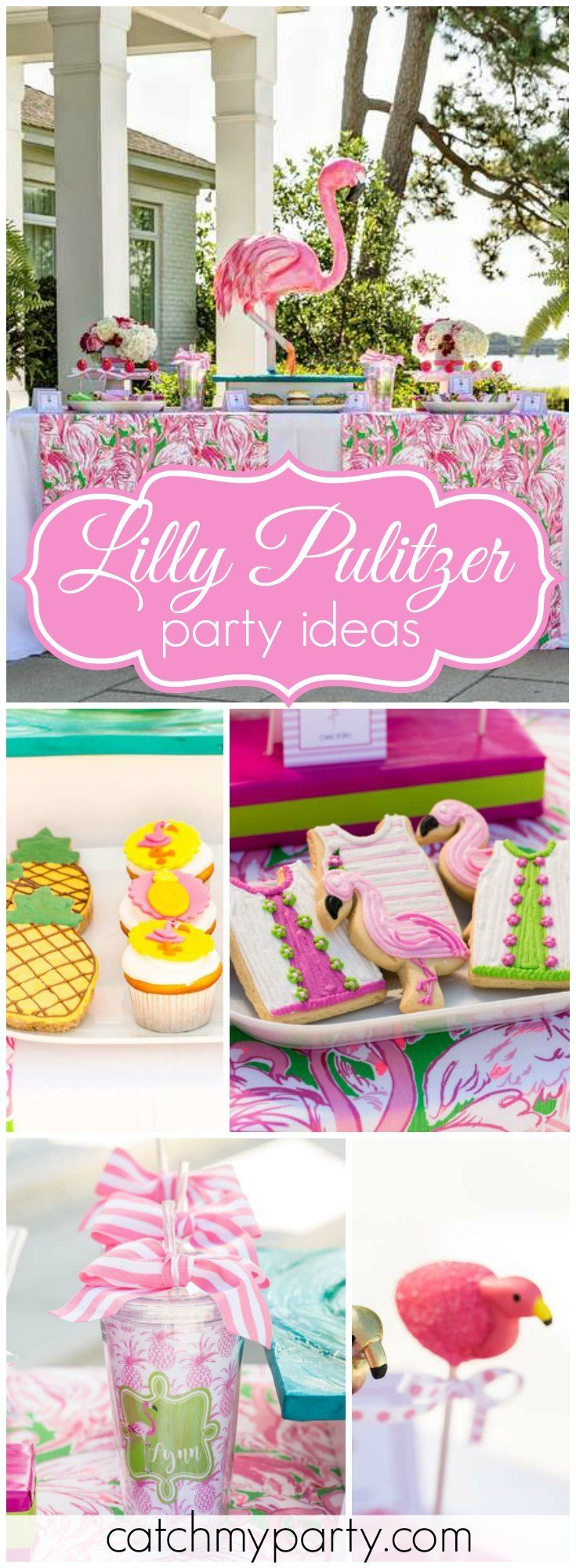 You have to see this gorgeous Lilly Pulitzer bridesmaid luncheon! See more party ideas at Catchmyparty.com!