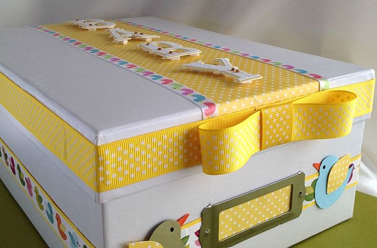 Custom Baby Box, Baby Gift Box, Baby Memory Box, Baby Keepsake Box, Baby Photo Box. $25.00, via Etsy.