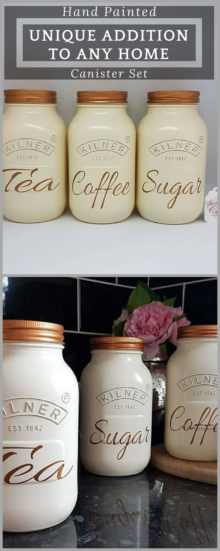 cream kitchen storage best 25 tea coffee sugar canisters ideas on 3011
