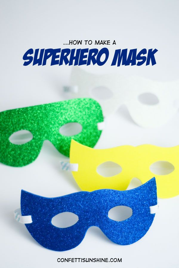 Superhero Mask template and how to -