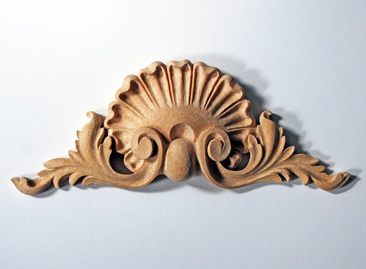 High relief shell pediment appliqué products pinterest