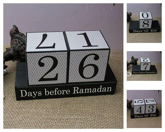 Aftellen naar de Ramadan dagen 'til Eid houten Display Eid