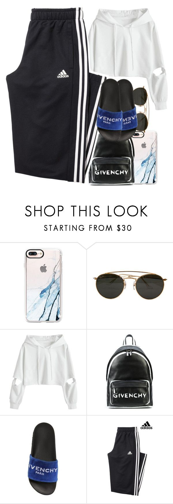 """Untitled #481"" by ccrenee-cxcv ❤ liked on Polyvore featuring Casetify, Ray-Ban, Givenchy and adidas"