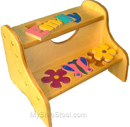 My Step Stool - Two Step Puzzle Stool with Flowers and Butterfly $79.99 (. Personalized ...  sc 1 st  Pinterest & 35 best Puzzle Step Stools images on Pinterest | Step stools ... islam-shia.org