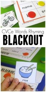 FREE CVC blackout game - excellent resource from this reading mama :o)
