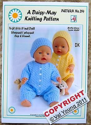 1-DOLLS-KNITTING-PATTERN-BY-DAISY-MAY-BABY-BORN-No-294-16-to-18-inch