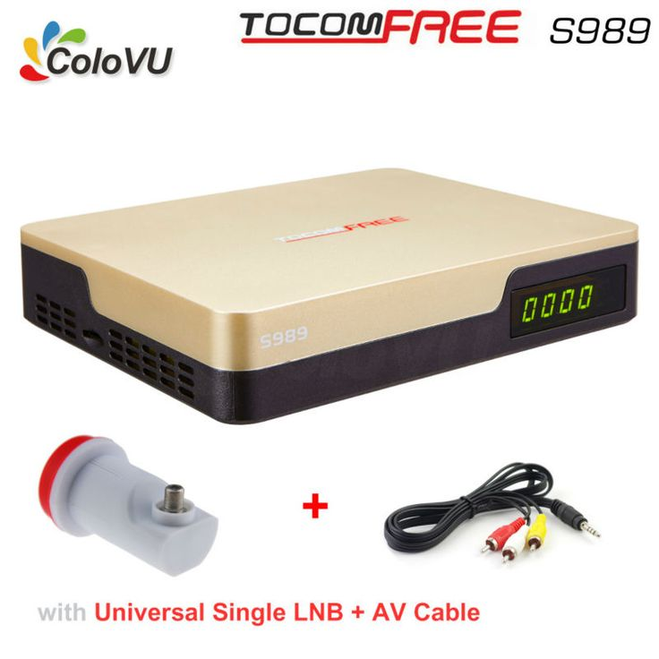 >> Click to Buy << Satellite TV Receiver TocomFree S989 + LNB + AV Cable FTA DVB-S/S2 with Free IKS SKS IPTV for Brazil / Chile / South America #Affiliate