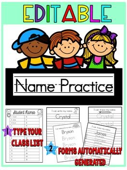Life just got easier with this EDITABLE Names Unit! This set now includes two options: one set for first names only and another for first and last names! This set comes with four name printable options. The first page of the document is a class list that holds up to 30 names.