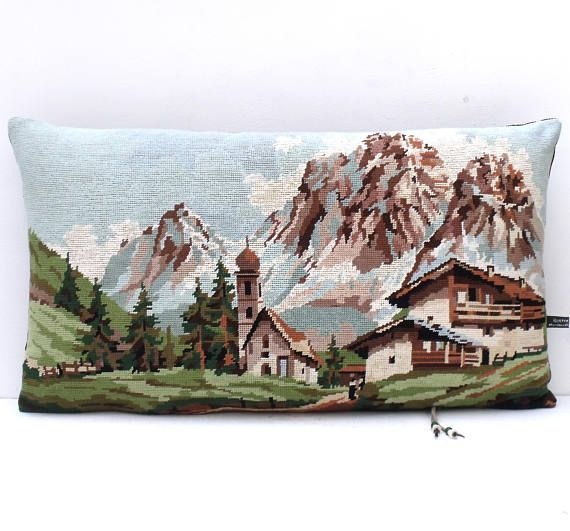 £40 French Alpine Chalet Mountains Needlepoint Tapestry re workedhttps://www.etsy.com/your/shops/me/dashboard
