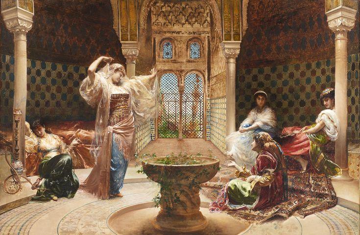 Édouard Frédéric Richter - La Danse au Harem. XIXe siècle