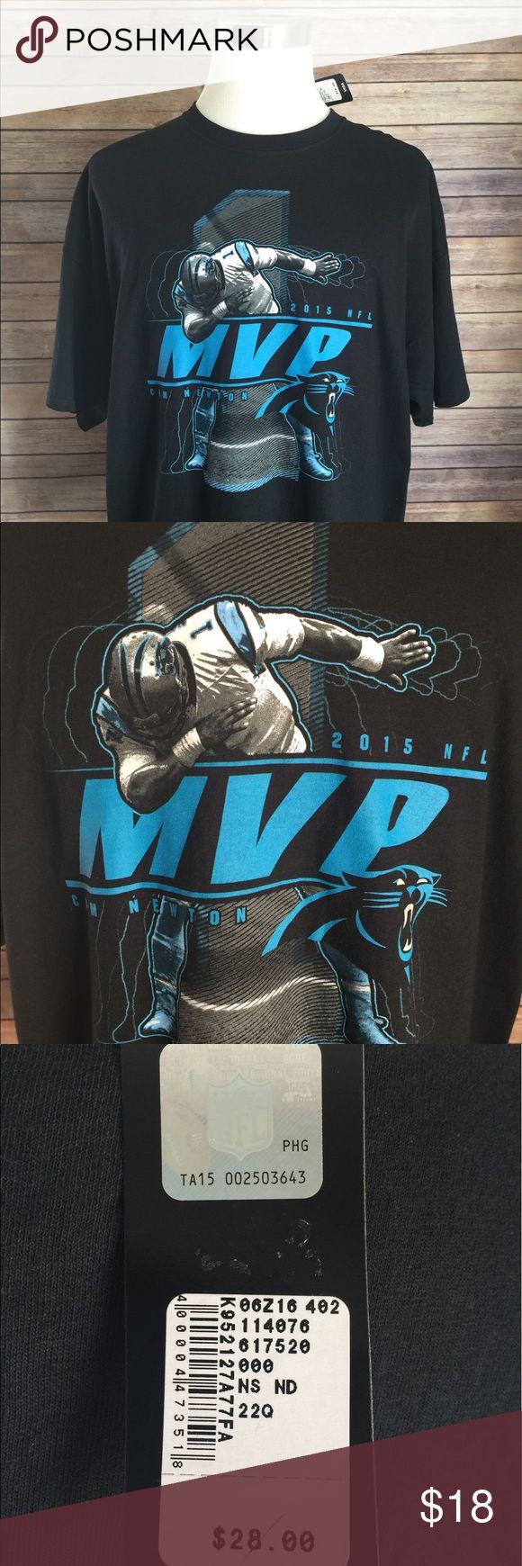 Cam Newton NFL 2015 MVP T-Shirt Cam Newton 🏈 2015 NFL MVP Black T-Shirt ...New With Tags ..Size 2XL ..100% Cotton Shirts Tees - Short Sleeve