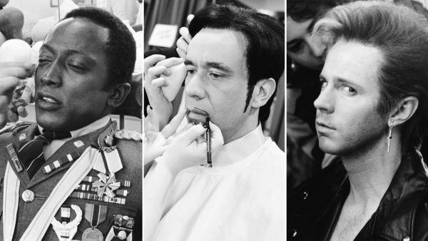 In the makeup chair: Garrett Morris as Idi Amin, Fred Armisen as Prince, and Dana Carvey as George Michael.