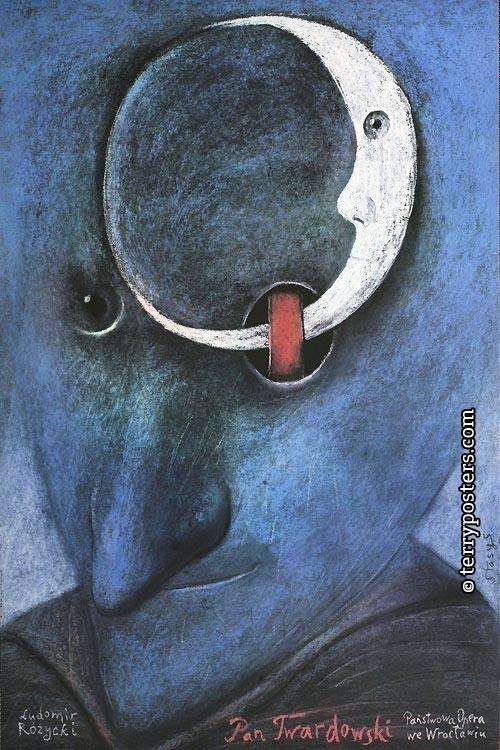 Polish Opera Posters - LUDOMIR ROZYCKI: MR. TWARDOWSKI (WROCLAW STATE OPERA) - Author: Eidrigevicius, Stasys Countries: Poland Year of poster origin: 1987