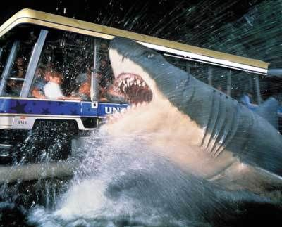 Universal Studios, Hollywood, California. Ahhhh!  Are you for real?! That shark is gonna eat me!!!!