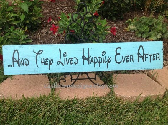 Disney Wedding Decor Sign  And They Lived by CastleInnDesigns