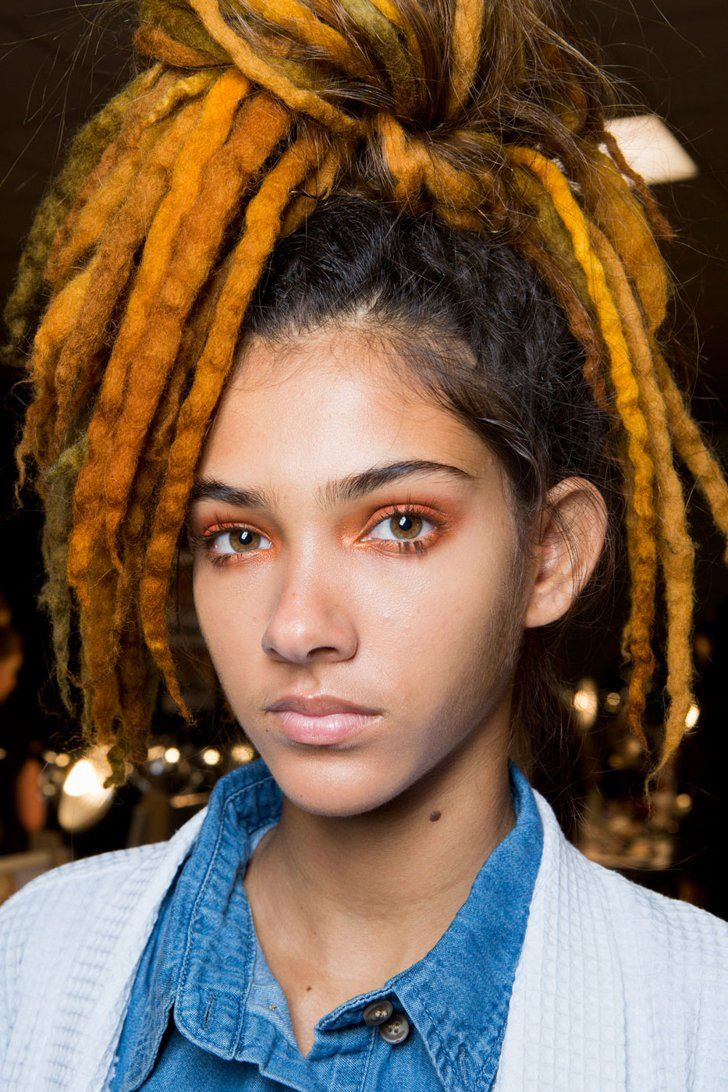 These Are the Best Beauty Looks of NYFW (So Far!) Marc Jacobs S/S 2017 Hair: Guido Palau for Redken for Marc Jacbos  Makeup: Francois Nars for Nars Cosmetics