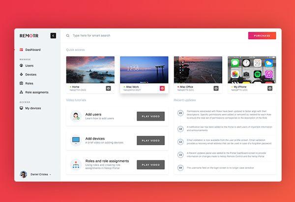 Free Dashboard UI PSD Template