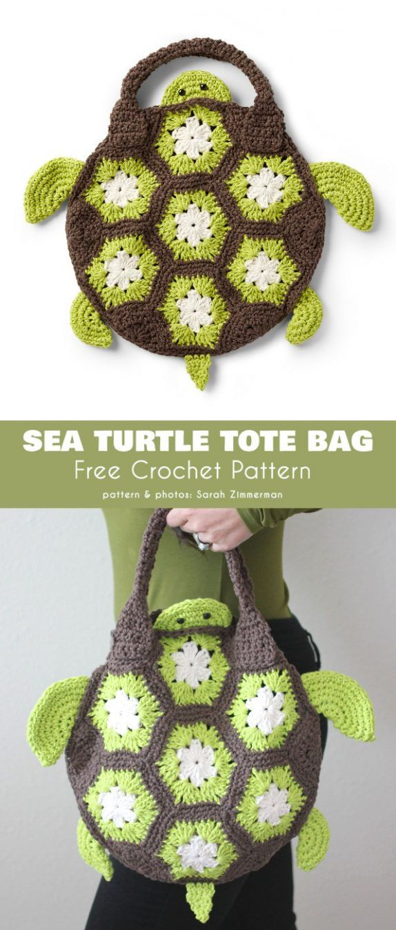 Sea Turtle Tote Bag Free Crochet Pattern