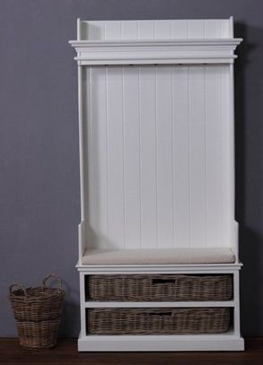 Coat Bench With Baskets And Cushion - £925.00 - Hicks and Hicks