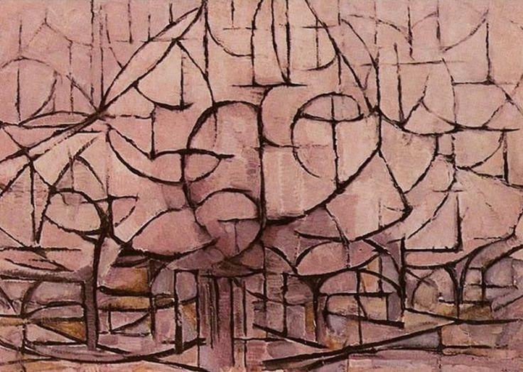 Piet Mondrian - Alberi in fiore - 1912