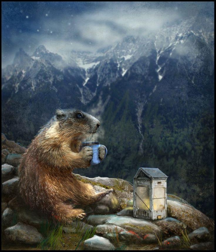 'Morning Thoughts' illustration ; Matylda Konecka Art