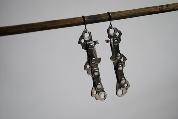 Chainsaw Chain Postapocalyptic Industrial Badass by MostlyJunk